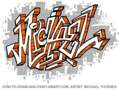 Medium Difficult How To Draw Graffiti Letters Artsee Kids