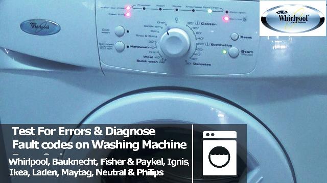 whirlpool awo d awd series washing machine error fault codes. Black Bedroom Furniture Sets. Home Design Ideas