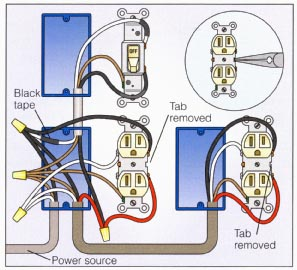 wiring multiple outlets diagram wiring diagram wiring diagrams for multiple outlets the diagram