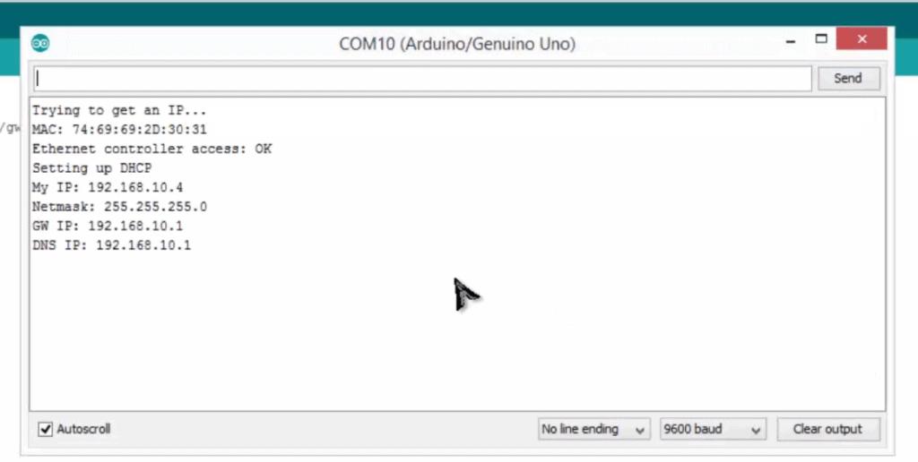 Control LED on Inernet using Arduino & ENC28J60