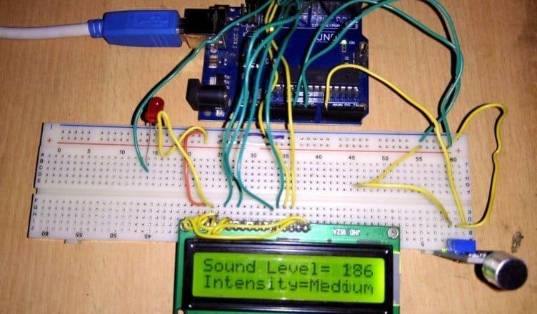 Decibel Meter using Sound Module & Arduino with LCD Display