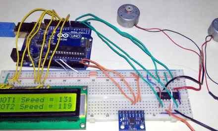 DC Motor Control using MPU6050 Gyro/Accelerometer Sensor & Arduino