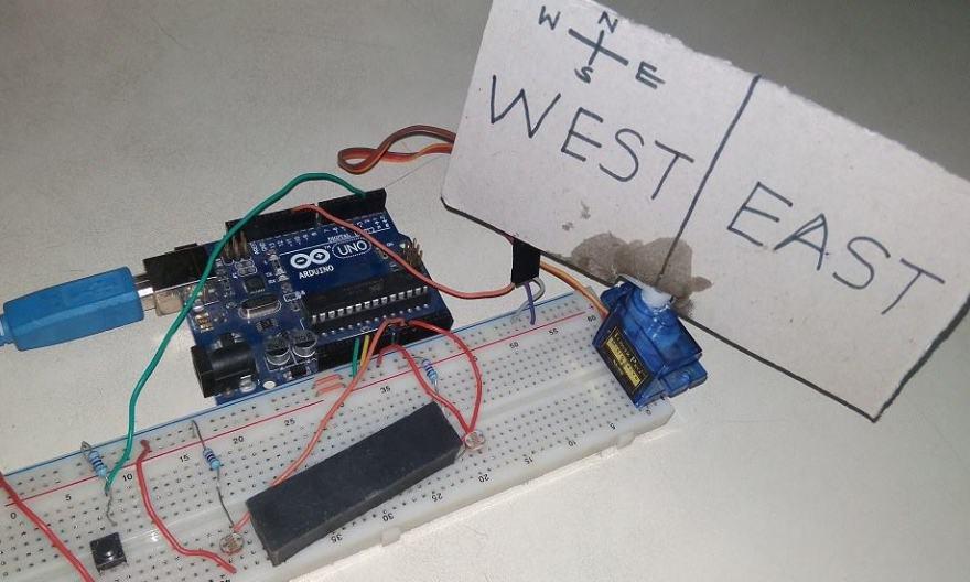 Arduino Based Solar Tracker Using LDR & Servo Motor