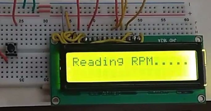 Digital Tachometer using IR Sensor with Arduino for measuring RPM