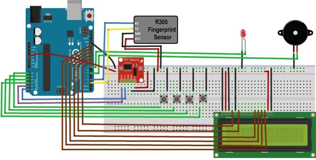 Fingerprint R305 Library For Proteus