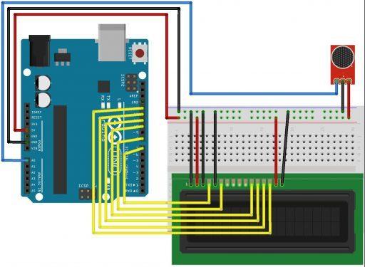 Decibel Meter using Sound Module & Arduino