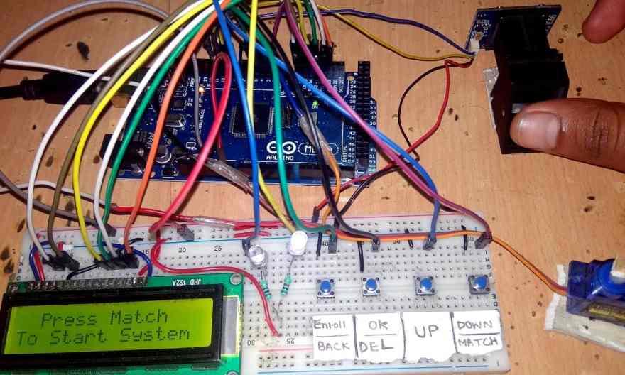 Arduino & Fingerprint Sensor Based Biometric Security System