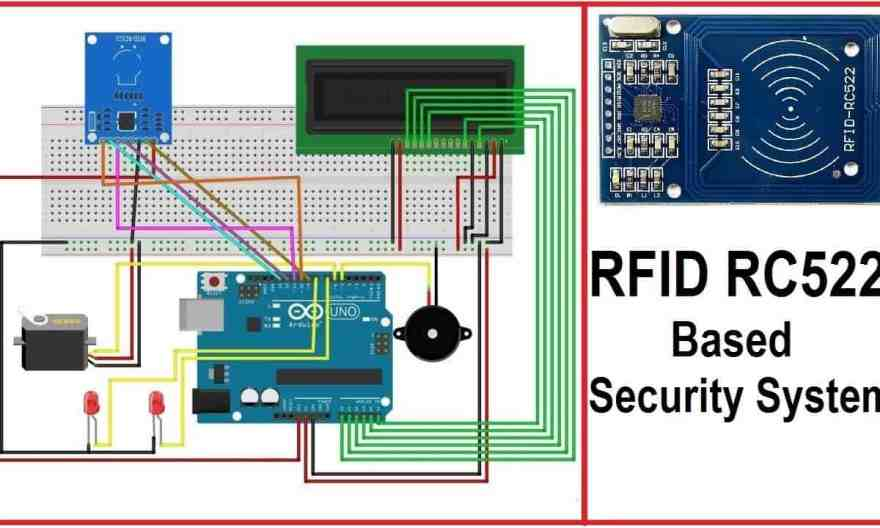 RFID RC522 Based Security System using Arduino LCD Display