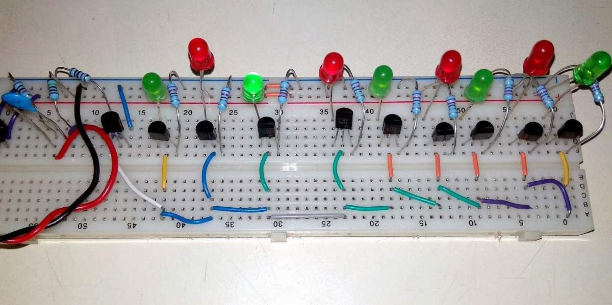 Music Rhythm Operated Dancing Light using LEDs & Transistors