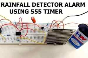 Rainfall Detector Alarm using 555 Timer & Rain Sensor