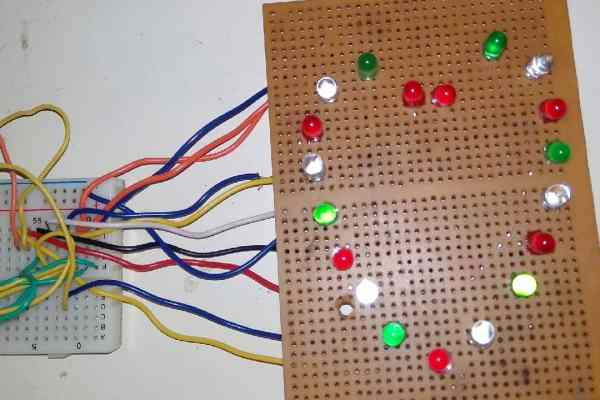 Project for Girlfriend - Heart Shaped Serial LED Flasher Circuit using 555 Timer