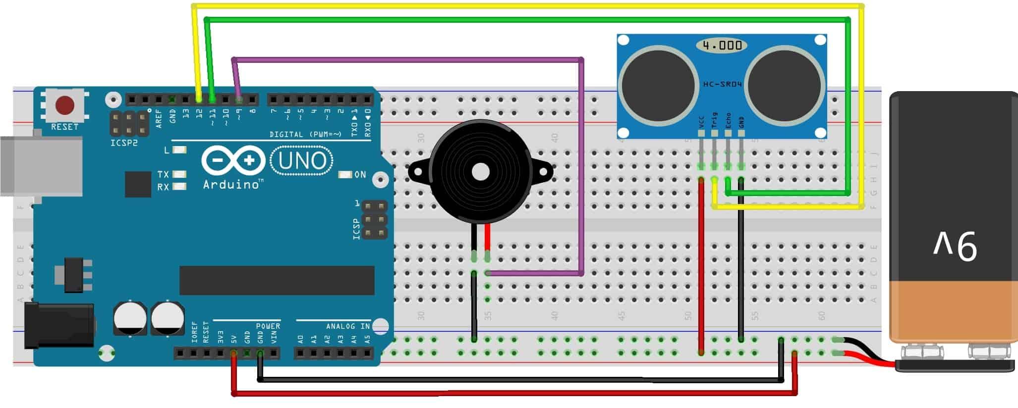 Blind Walking Stick Using Arduino & Ultrasonic Sensor HC-SR04