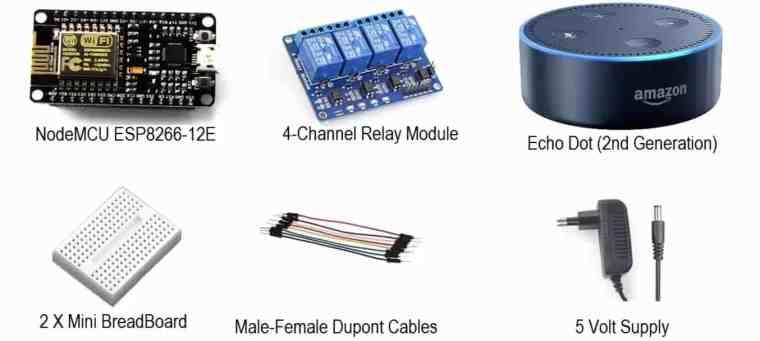 Home Automation with NodeMCU & Alexa