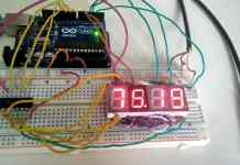DS18B20 Based Thermometer using Arduino & 4 Digits 7 Segment Display