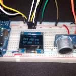 Range Finder using Ultrasonic Sensor & Arduino with OLED Display