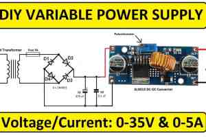 0-35V Variable Power Supply Using XL4015 DC-DC Converter