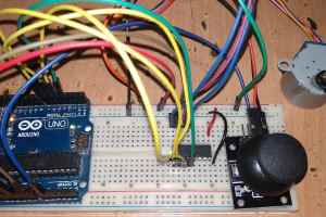 Controlling Stepper Motor with Joystick and Arduino