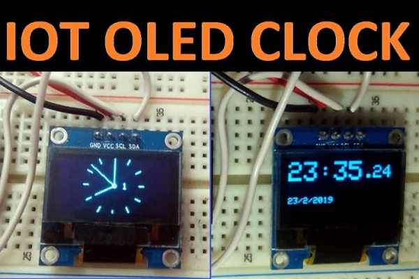IOT Based Analog Digital OLED Clock using NodeMCU