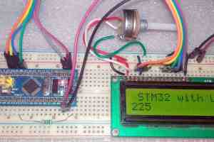 Interfacing 16X2 LCD Display with STM32 Bluepill Microcontroller