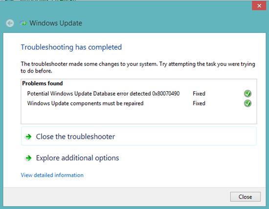 100% Fixing of Windows 8/10 Update Error 0x80070490