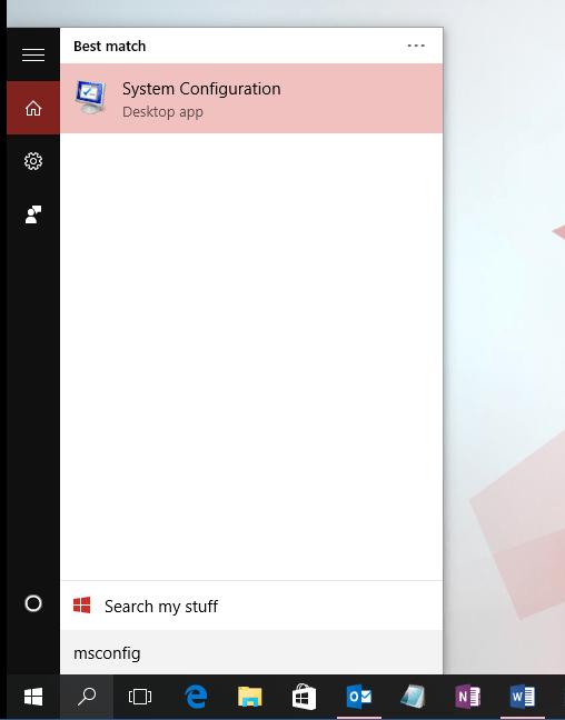 Windows 10 Clean Boot