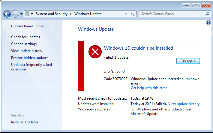 Resolved: How to Fix 0x80070002/0x80070003 Windows 10/8/7 Update Error