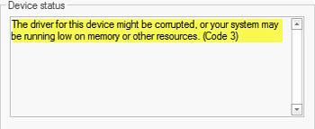 error code 3
