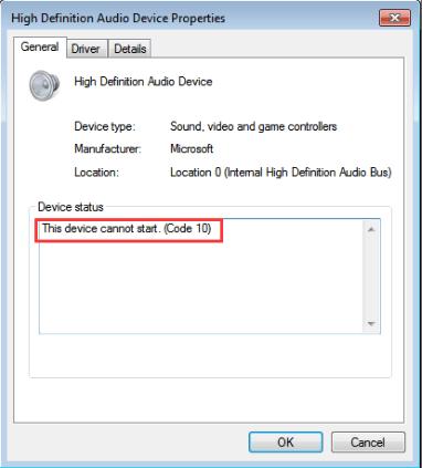 error code 10
