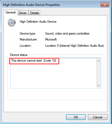 Fix Error Code 10 - This device cannot start in Device Manager