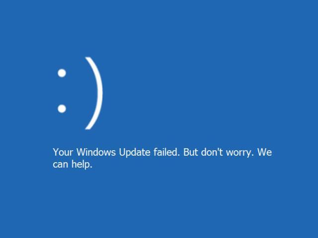 windows update failed