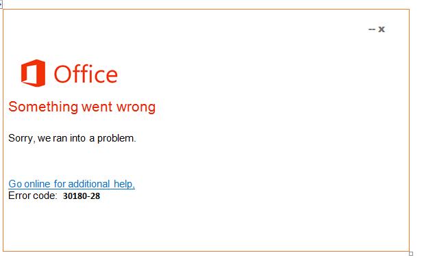 Error code 30180-28