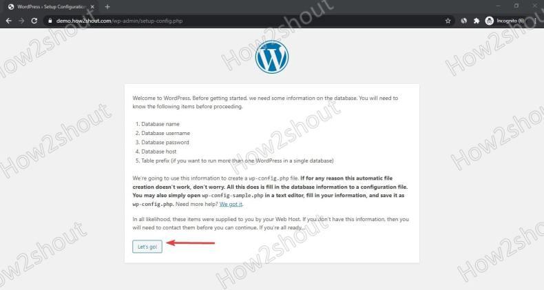 Wordpress CloudPanel install