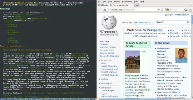 lynx text base browser screenshot