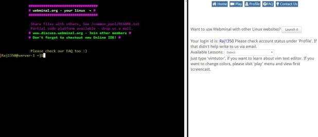 Webminal free online Linux terminal