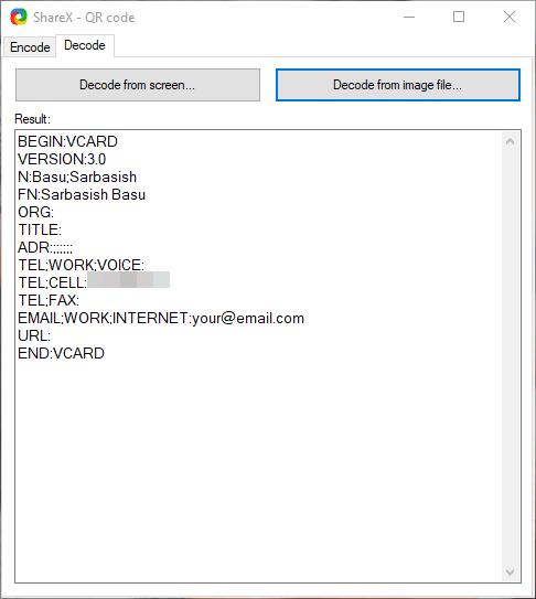 ShareX QR Code on PC 4