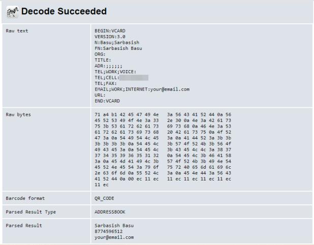 Decode QR Code on PC 6