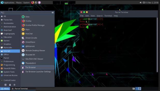 Parrot Security OS Linux penetration distro