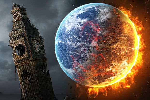 Moon collision: End of World