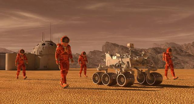 Martian colonists