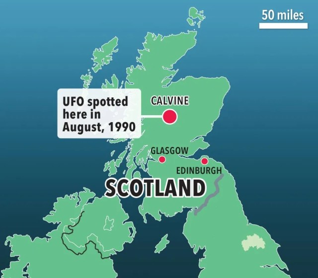 Calvine UFO sighting in 1990