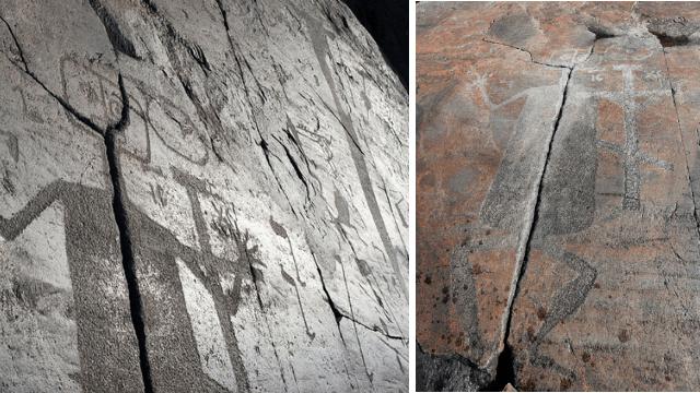 Demon petroglyphs