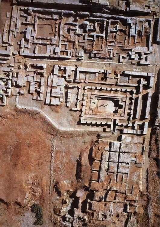 Aerial view of the ruins of Mohenjo-Daro