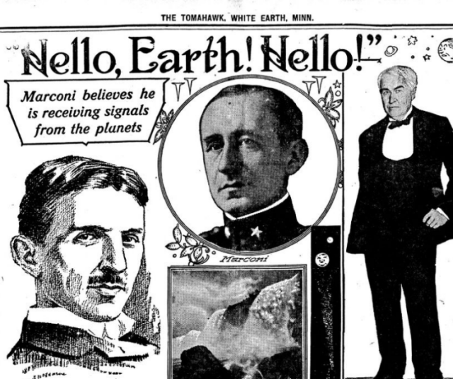 marconi alien signals from Mars