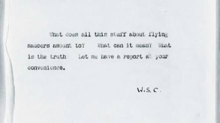 Winston Churchill memo