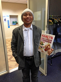 Cookie with his Cook Book!