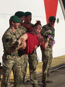 Marines lifting the Godmother!