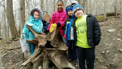 Howard County Conservancy School's Out campers find many cool things in nature as they hike the trails of Patapsco Valley around Belmont
