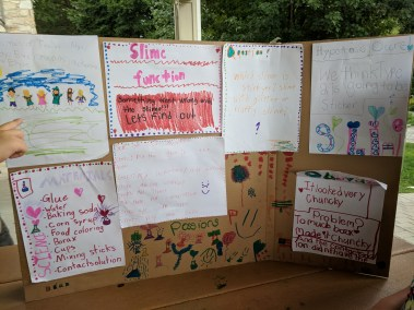 Campers at the Howard County Conservancy's Summer Nature Camp present their findings at the end-of-session STEM Fair.