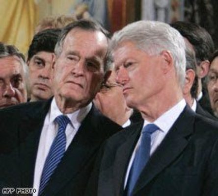 BILL CLINTON AND BUSH