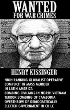 HENRY KISSINGER WANTED POSTER